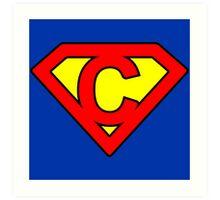 C letter in Superman style Art Print