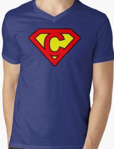 C letter in Superman style Mens V-Neck T-Shirt