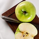 Green Apple and Knife by Ilva Beretta
