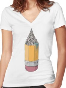 Creaticity Women's Fitted V-Neck T-Shirt