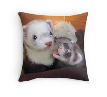 A little yawn. Throw Pillow