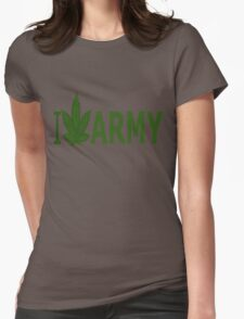I Love Army Womens Fitted T-Shirt