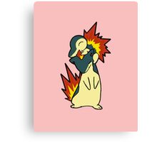 Cyndaquil and Quilava Canvas Print