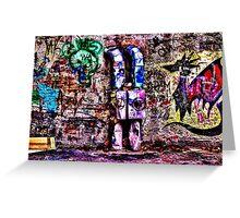 Abandoned Wall Fine Art Print Greeting Card