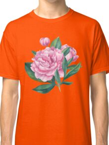 Watercolor Peony Bouquet Classic T-Shirt