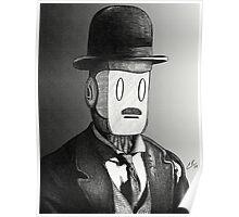 Charlie Chaplin Robot Poster