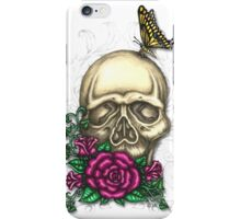 Skull, Roses and Butterflies iPhone Case/Skin