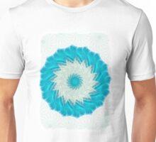 Cyan Glow Kaleidoscope 11 Unisex T-Shirt