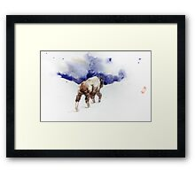 Water and Snow Framed Print