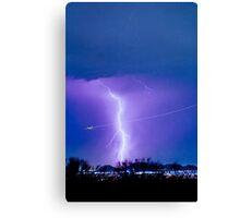 Bo Trek - Lightning Strike - City Lights - 2 Canvas Print