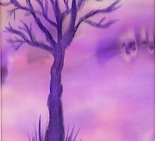 Purple Tree by Caroline  Lembke