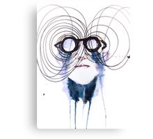 Super glases Canvas Print