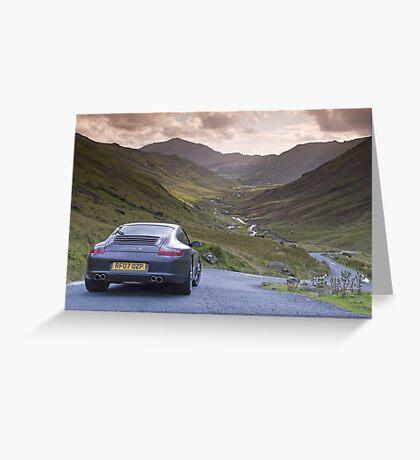 Porsche 911 Lake District Greeting Card