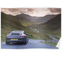 Porsche 911 Lake District Poster
