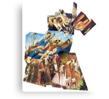 Renaissance Puzzle 4 Parts. Canvas Print
