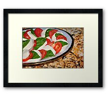 Appetite For Cheese and Tomato Framed Print