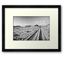 'Desert Freeway'  Framed Print