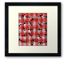 Gingham Girlz on Bikes design Framed Print