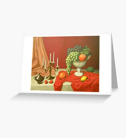 still life in red Greeting Card
