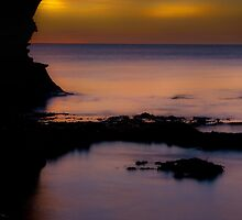 Ladram Bay at Sunrise in Devon by peteton