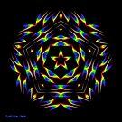 Rainbow Star Mandala by Mystikka