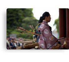 japanese archery tournament Canvas Print