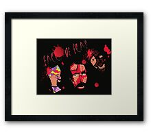 The 3Faces of Fear Framed Print