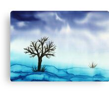 Landscape in Blue  Canvas Print