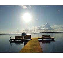 dock of the sarasota bay Photographic Print