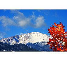 Autumn Under the Peak Photographic Print