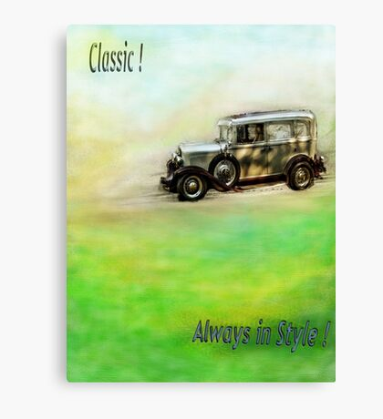 Classic ( in colors with transparency ) Canvas Print
