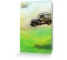 Classic ( in colors with transparency ) Greeting Card