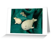 Meeting whales in my children's world Greeting Card