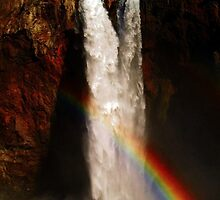 Snoqualmie Falls with Rainbow! by RavenLacey