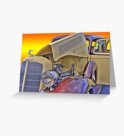 Classic Buick - Sunburst Greeting Card