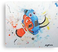 Don't Tap on the Glass; It Scares the Fish Canvas Print