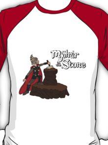 Mjolnir in the Stone (Helmet Version) T-Shirt