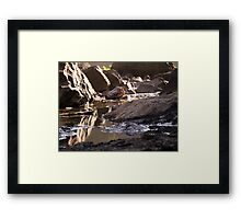 Snoqualmie Falls puddles around the falls Framed Print