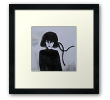 The Black Ribbon Framed Print