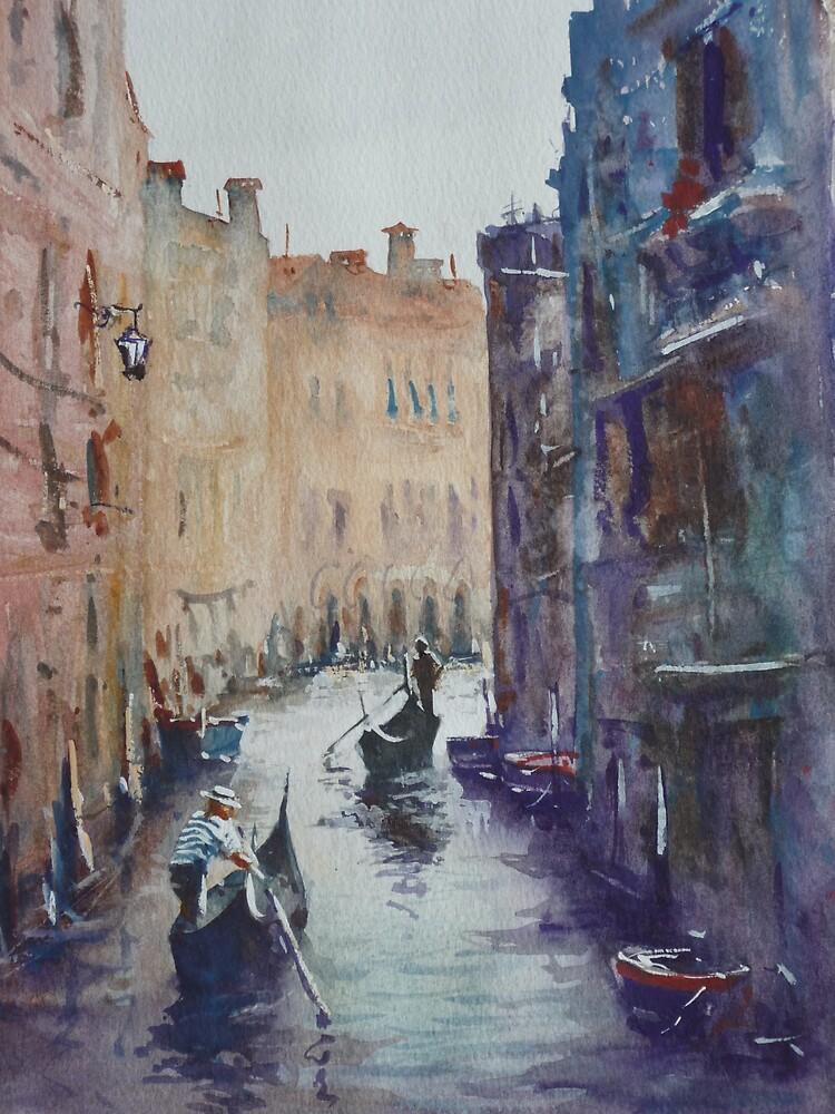 Venice without footpaths by Mick Kupresanin