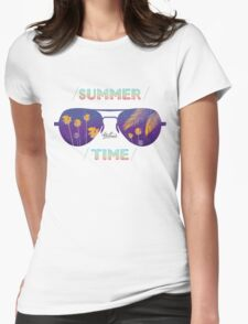 Summer time glasses Womens Fitted T-Shirt