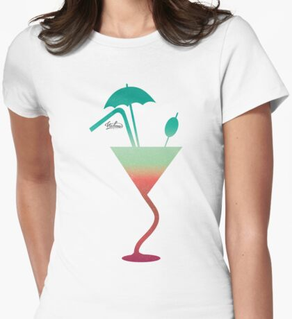 Summer fantazy cocktail Womens Fitted T-Shirt