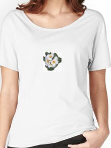 White Primrose Patch Women's Relaxed Fit T-Shirt