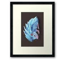 Ice Hedgehog Framed Print
