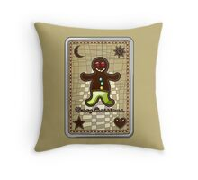 MERRY CHRISTMAS gingerbread man! Throw Pillow