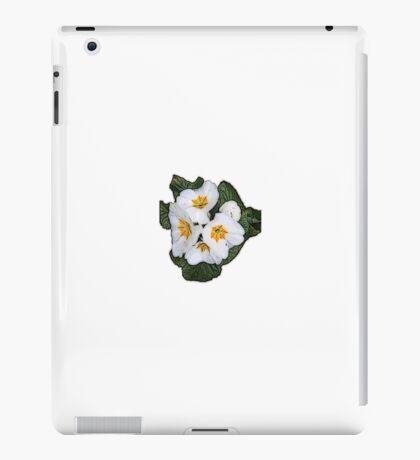 White Primrose Patch iPad Case/Skin