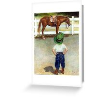 The Standoff Horse Portrait Greeting Card