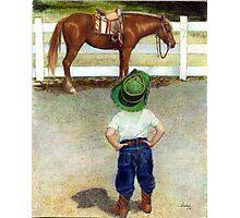 The Standoff Horse Portrait Photographic Print