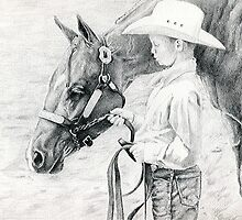 Youth Showmanship Quarter Horse Portrait by Oldetimemercan