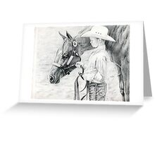 Youth Showmanship Quarter Horse Portrait Greeting Card